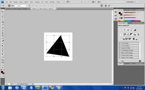 Triangle being warped