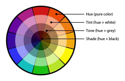 Labeled Color Wheel