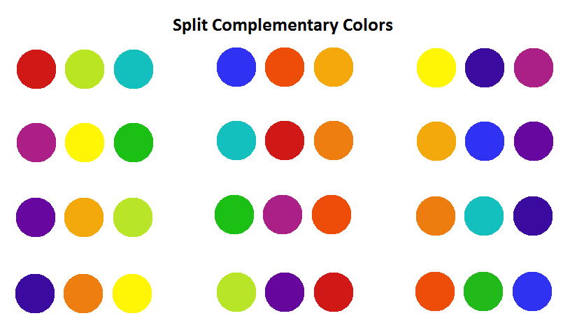 Examples Of Split Complementary Colors web design | digital composition diy | page 2