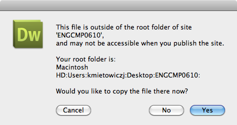 Root Folder Window