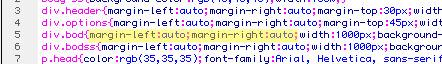 auto margins