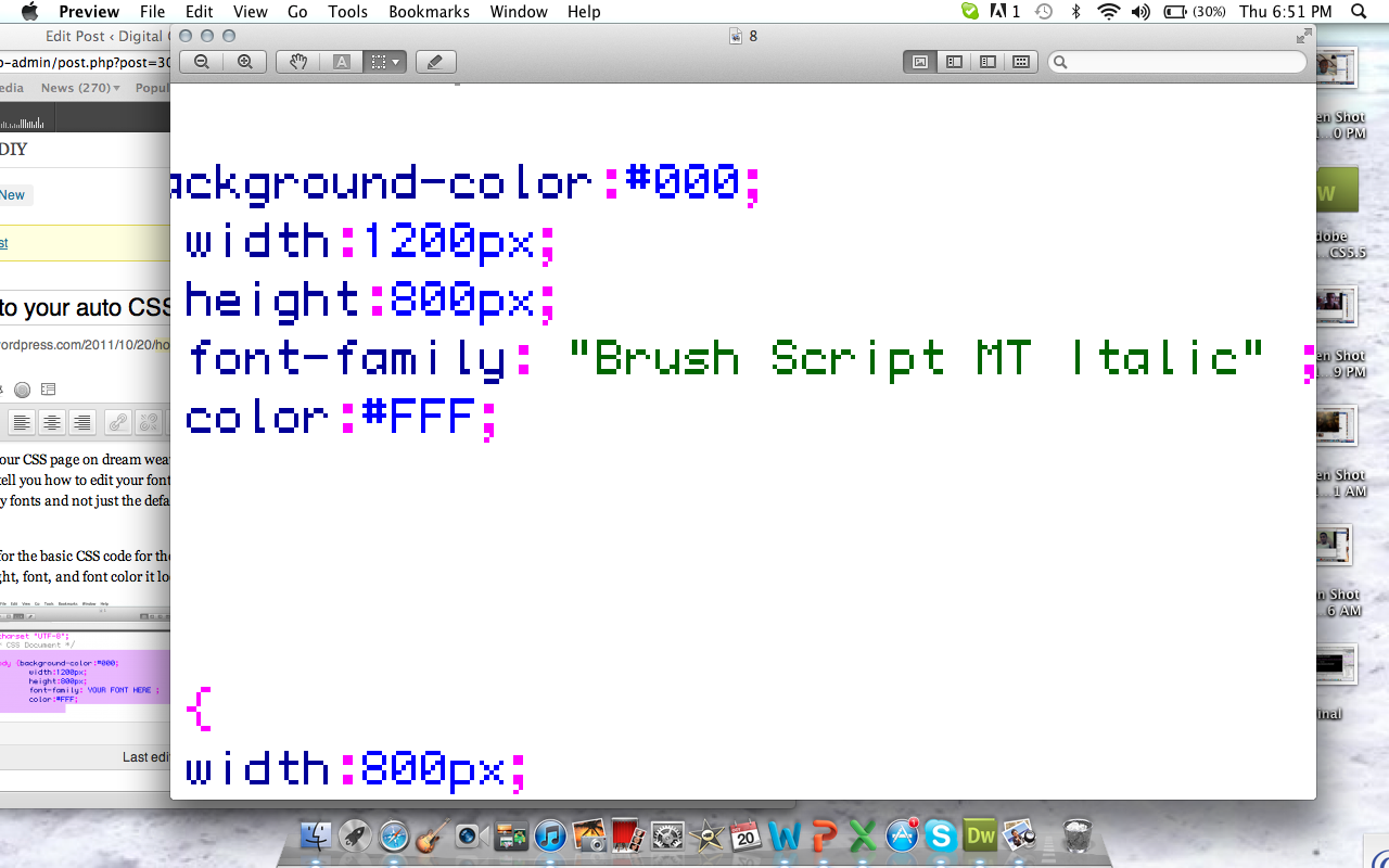 How to add fonts to your auto CSS font family list on
