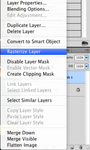 rasterizing our layer