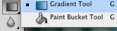 The gradient tool.