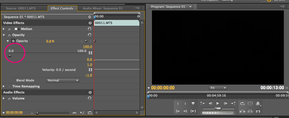 Fading videos in and out in adobe premiere cs55 digital now ccuart Image collections