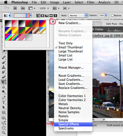 how to add a rainbow in photoshop