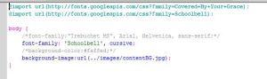 CSS import