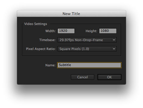 Add some swag to your narration making subtitles on adobe premiere screen shot 2013 01 27 at 103210 pm ccuart Choice Image