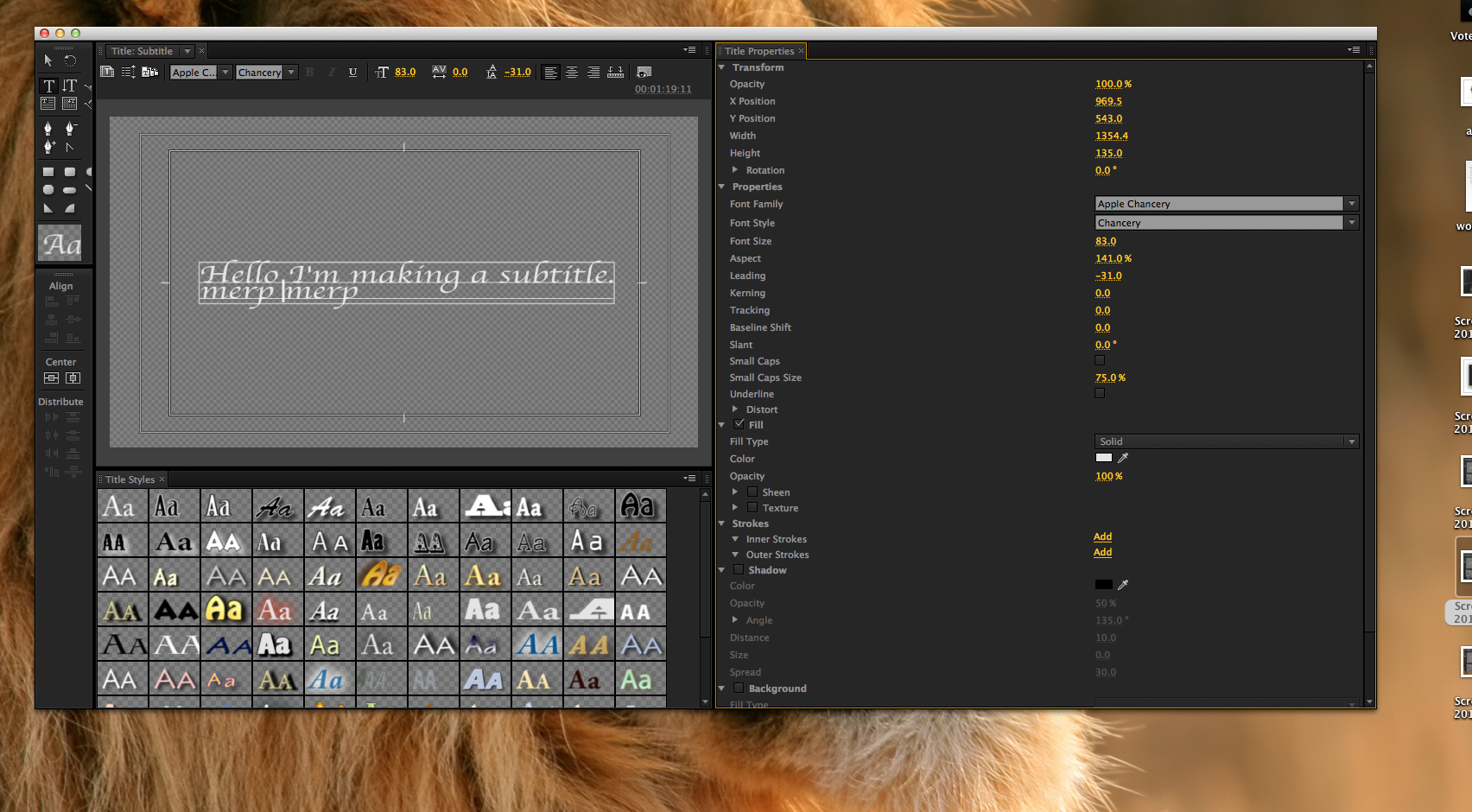 Add some swag to your narration: Making Subtitles on Adobe